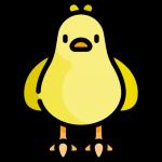 Flat icone oiseau domestique